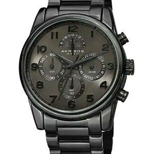 Akribos XXIV Men's Rugged Chrono Steel Watch